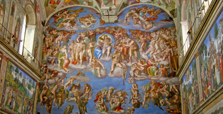 a history of the artworks of michelangelo at the sistine chapel in the vatican